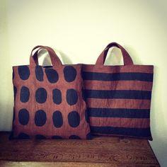 Handmade Handbags, Handmade Bags, Cute Purses, Purses And Bags, Diy Tote Bag, Striped Bags, Linen Bag, Fabric Bags, Beautiful Bags