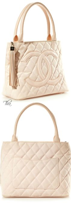 Chanel ~ Vintage Pink Canvas Quilted CC Bag