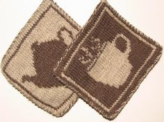 Check out these Coffee and Tea knit potholders Elizabeth Evans made with our Fishermen's Wool.  Pattern available on Raverly.