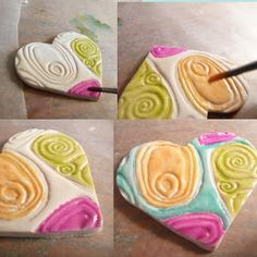 Artsy Clay: creations & inspirations: Tutorial - How to use Alcohol Inks with Polymer Clay - Part II - Faux Ceramic