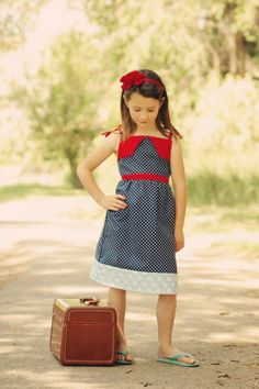 Easy sun dress pattern 6m 12m 18m 24m 2t 3t 4t by terrastreasures1 I'd love to make something like this in my size.