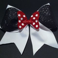 3in. Minnie Mouse Cheer Bow by BowsByTeri on Etsy https://www.etsy.com/listing/120863565/3in-minnie-mouse-cheer-bow