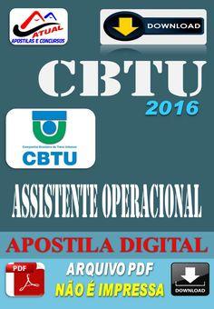 Apostila Digital Concurso CBTU Assistente Operacional 2016