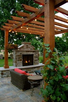 Fire place or fire pit? Tough choice
