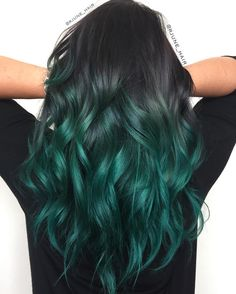 Black to turquoise hair. I think I'll keep this one for awhile, my fav so far!