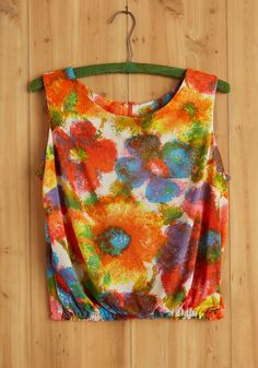 Vintage Meditation Workshop Top. Bright and early this morning, you awoke to attend a meditation workshop at sunrise.  #modcloth