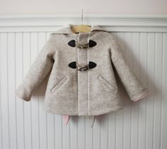 Snowshoe Rabbit Girls Coat by littlegoodall on Etsy