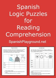 Logic puzzles for kids are a great Spanish reading activity. Four free printable logic puzzles that use winter vocabulary. Perfect for Spanish learners.