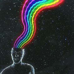 """-rainbow_head - Neon Green Motion TRIPPY HAT - Free Drugs original gif: dualvoidanima: """"'touch_of_light' """" rainbow gif Rainbow Aesthetic, Aesthetic Images, Aesthetic Wallpapers, Vaporwave Gif, Wicca, Magick, Rainbow Gif, Trippy Gif, Trippy Painting"""