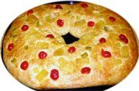 Spanish Three Kings or Twelfth Night Bread (Roscon de Reyes) Baking Stone, Sifted Flour, Oranges And Lemons, Twelfth Night, Dry Yeast, Holiday Desserts, International Recipes, Bread Recipes, Rolls