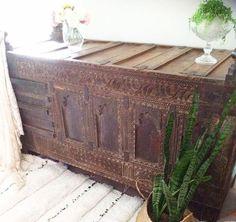 19th Centrury Antique Damchiya Chest  #chest #antique #dowry #damchiya #handmade #home #interior #design #home #décor #furniture