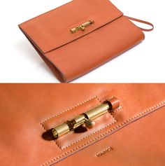 Image of LATCH clutch / Caramel 焦糖色門閂手拿包