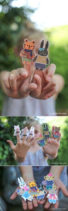 #kidscraft #paperdolls #fingerpuppets www.LiaGriffith.com