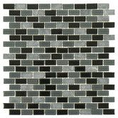 Found it at Wayfair - Ambit Glass & Natural Stone Glossy Matte Mosaic in Citadel