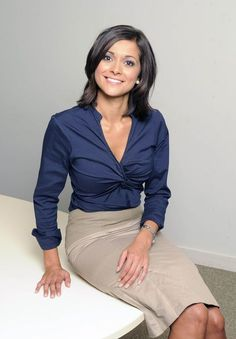 images of lucy verasamy hair styles Itv Weather Girl, Weather Girl Lucy, Sexy Blouse, Blouse And Skirt, Sexy Older Women, Sexy Women, Bollywood, Tv Presenters, New Girl