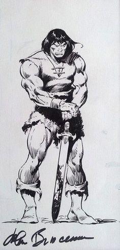 Conan The Barbarian holding a sword - standing, in Eirik Meland's John Buscema Comic Art Gallery Room Comic Book Artists, Comic Artist, Comic Books Art, Red Sonja, Daffy Duck, Conan Comics, Marvel Comics, Fantasy Comics, Fantasy Art