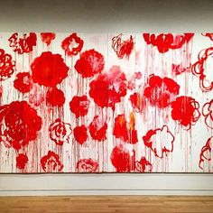 CY TWOMBLY Blooming, 2001–08 Acrylic, wax crayon on ten wooden panels 98 3/8 × 196 7/8 inches (250 × 500 cm) © Cy Twombly Foundation. Private Collection.  @gagosiangallery #gagosiangallery #cytwombly #artist #artinnyc #contemporaryart #instaart #art #paintings #gagosian #colour #flowers  My favourite painter