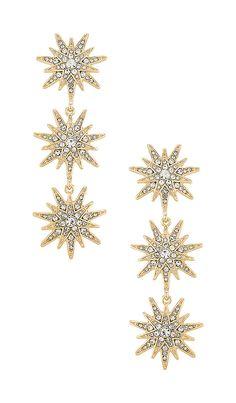 BaubleBar Callisto Drop Earrings in Gold | REVOLVE Tassel Drop Earrings, Gold Plated Earrings, Gold Earrings, Lightning Bolt Earrings, Aqua, Strings, Luxury Jewelry, Fashion Accessories, Core Values