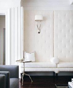Simple white banquette