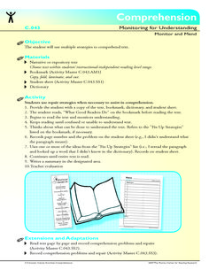 The student will use multiple strategies to comprehend text.