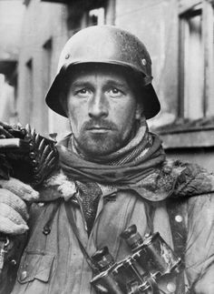 SS soldier from 2nd SS Panzer Corps after the Third Battle of Kharkov, March 1943.