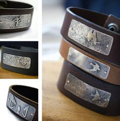 customizable cuff personalize sterling silver plate by AdaRosman