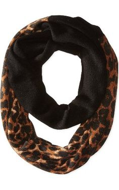 Sofia Cashmere Women's Animal Print Colorblock Infinity Scarf, Camel Leopard, One Size ❤ Sofia Cashmere Women's Accessories
