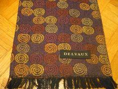 DELVAUX WOOL CAsHMERE Opera ScARF Vintage DoUBLE par FeverVintage
