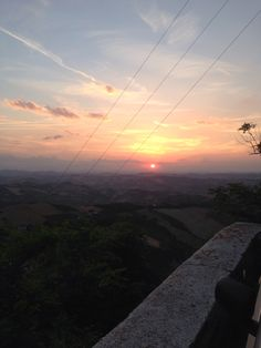 Sunset in Ripatransone, region Marche, Italy