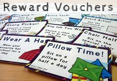 Classroom Management Reward Vouchers: A fun way to motivate and reward your class.