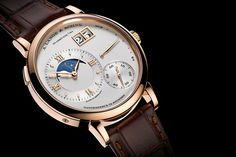 A. Lange & Söhne - Grand Lange 1 Moonphase, ref.139032 - Manual-winding, cal.L095.3, 3Hz, 72hr p.r., date, moonphase, power reserve indicator - 41mm, pink gold case, white dial ~30k