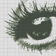 0 point de croix monochrome oeil - cross stitch eye