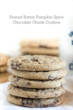 Peanut Butter Pumpkin Spice Chocolate Chunk Cookies