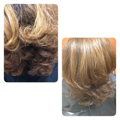 before and after hair color and cut by missy