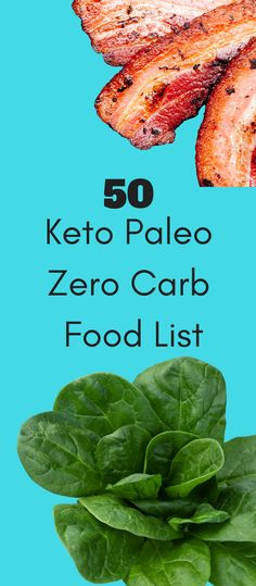 Keto or low carb? If you aren't paying attention, you'll be over 25 carbs in a blink of an eye before you know it. Here's 50 Keto Paleo Zero Carb foods. via @bejelly #atkinsdietresults