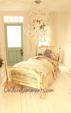 Dollhouse Miniature Louis XVI Cane Bed by cinderellamoments, $150.00