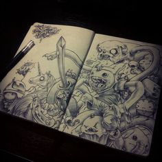 Adventure Time sketch of awesomeness