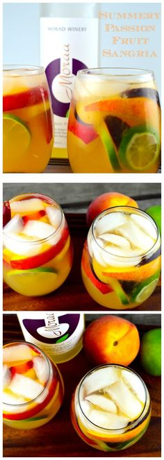 Summery Passion Fruit Sangria #summery #drink #wine #sangria #passion fruit #fruity #cocktail #alcohol