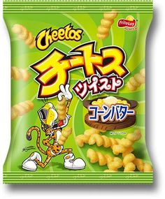Frito-Lay Cheetos Twist ~ Corn Butter Flavor $2.00 http://thingsfromjapan.net/frito-lay-cheetos-twist-corn-butter-flavor/ #Japanese cheetos #Japanese snack #delicious Japanese snack
