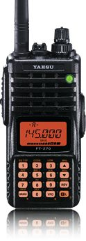 FT-270R is a compact, high-performance FM hand-held
