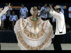 "Panama folkloric dance ""La Espina"" danced with traditional ""pollera"". Learn spanish at Spanish Panama, Panama city, Panama. www.spanishpanama.com"