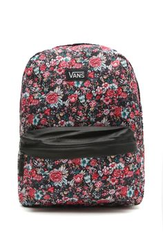 Vans floral off the wall backpack Vans Backpack b947b7c4ed2