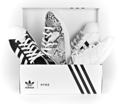 Which HYKE are you? Cool and clean - the new exclusive collabo of #hykexadidasoriginals now online at http://www.anitahass.com/en/designer/adidas.html