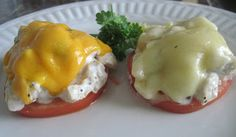 A quick Low Carb lunch idea - Chicken Salad Melts - 2.5g net carbs per melt or 5g net carbs per serving