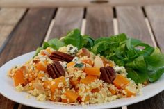 Boulgour au butternut, roquefort et pécan Nutrition, Fried Rice, Risotto, Fries, Chicken, Healthy, Ethnic Recipes, Food, Passion