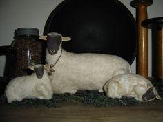 Countryside Sheep Pattern by HiddenInTheAttic on Etsy