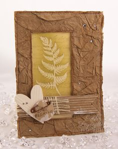 Stamp Talk with Tosh: Ferns and Fiddles Free for All--made with a crumpled paper bag! So cool!!!