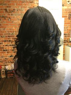 """Solely All Natural Silk Press w/Cut Off Dead Ends and Hydrated...styled in """"Mild Beach Waves"""""""