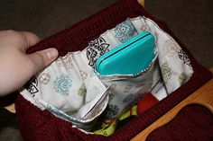 Ravelry: Project Gallery for Retro Style Knitting Bag pattern by milobo