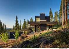 Blaze Makoid #Architecture have designed a single family home as part of the Martis Camp developement in Truckee, #California.